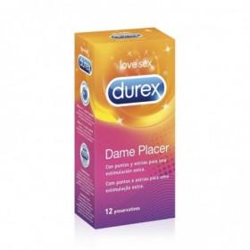 DUREX DAME PLACER PRESERVATIVOS 12 U