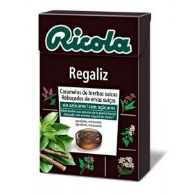 RICOLA CARAMELOS SIN AZUCAR  REGALIZ 50 G