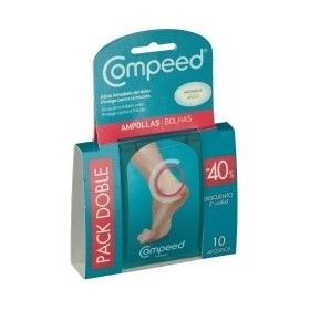 COMPEED AMPOLLAS HIDROCOLOIDE T- MED PACK DOBLE 2X5U 40% 2ºU