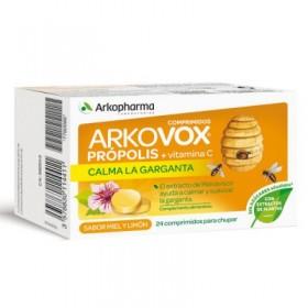 ARKOVOX PROPOLIS +VIT C+ MALVAVISCO SABOR MIEL/LIMON 24 COMP