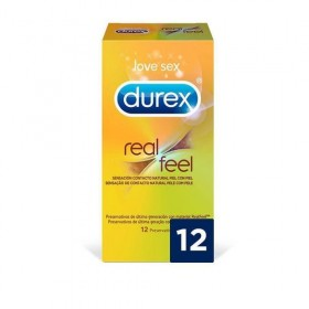 PRESERVATIVO DUREX SEN REAL FEEL S/LATEX 12U