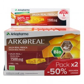 ARKOREAL JALEA REAL 1500 SIN AZUCAR PACK 2 X 20 AMP
