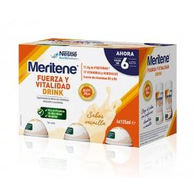 MERITENE FUERZA Y VITALIDAD DRINK  PACK VAINILLA 6U X 125ML