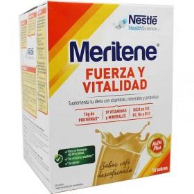 MERITENE FUERZA Y VITALIDAD CAFE DESCAFEINADO 30 G 15 SOBRES