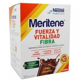 MERITENE FUERZA Y VITALIDAD FIBRA CHOCOLATE 35 G 14 SOBRES