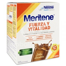 MERITENE FUERZA Y VITALIDAD CHOCOLATE 30 G 15 SOBRES