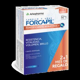 FORCAPIL FORTIFICANTE KERATINA 60 CAPS. 2 + 1 GRATIS