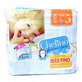PAÑAL INFANTIL CHELINO FASHION & LOVE T- 5 (13 - 18 KG) 30PA